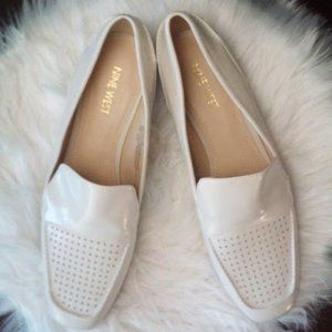 New Nine West Patent Loafer Cream Women Size 9M